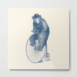 Morning Ride - Blue Option Metal Print