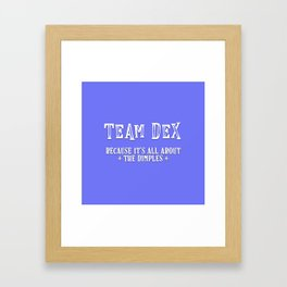 Team Dex Framed Art Print
