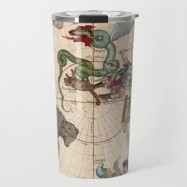 Pictorial Celestial Map with Constellations Ursa Major and Ursa Minor Travel Mug