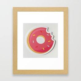 Delicious Pink Donut Framed Art Print