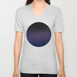 Abstract waves Unisex V-Neck