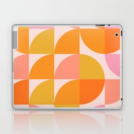 Mid Century Mod Geometry in Pink and Orange Laptop & iPad Skin