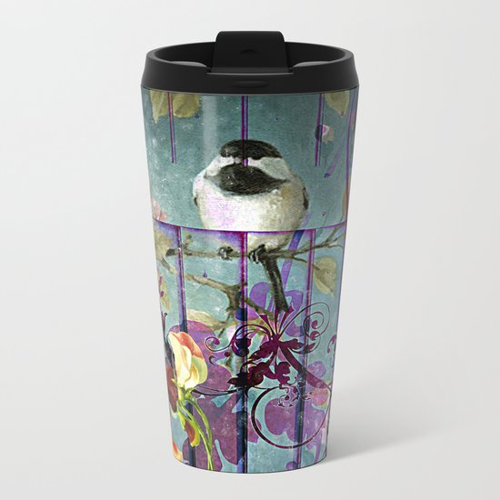 Over the garden gate Metal Travel Mug