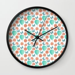 Fly Away With Me Pattern Wall Clock