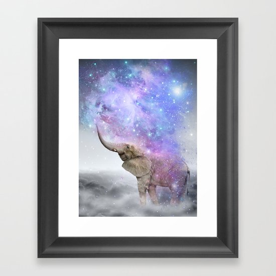 Don't Be Afraid To Dream Big • (Elephant-Size Dreams) Framed Art Print
