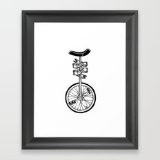Monocycle Framed Art Print