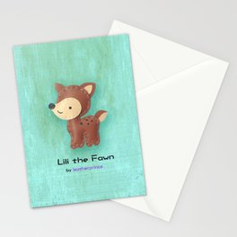 Lili the Fawn by leatherprince Stationery Cards