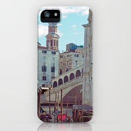 Venice - Rialto Bridge and Gondola iPhone Case