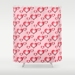 herzen collage 2 Shower Curtain