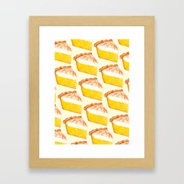 Lemon Meringue Pie Pattern Framed Art Print
