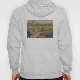 Vintage Painting of a Baseball Game (1887) Hoody