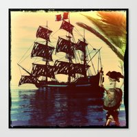 pirate ship Canvas Prints featuring pirate ship by Ancello