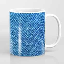 MACRO PHOTOGRAPHY - JEANS TEXTURE MATERIAL Coffee Mug