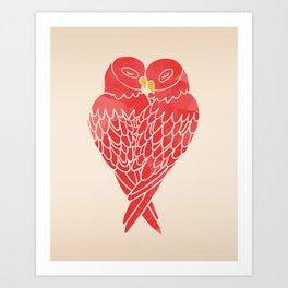 Love Birds (Red) Art Print