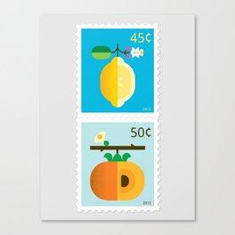 Fruit: Lemon & Persimmon Canvas Print