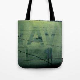 Fading Fuselage Navy Helicopter Airframe Green Tote Bag