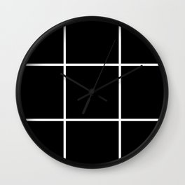 Black areas Wall Clock