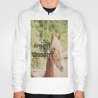 scripture Hoodies featuring Job 39: 19 Horse Scripture by KimberosePhotography