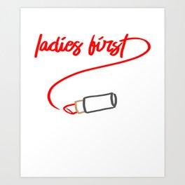 Ladies First Art Print