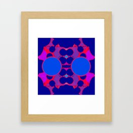 symmetric orange on blue Framed Art Print