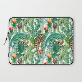 chameleon cacti pattern Laptop Sleeve