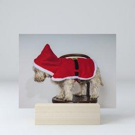 Westie In Santa Suit  Mini Art Print
