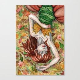 Autumn Girl Canvas Print