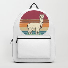 Retro Llama Backpack