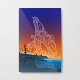 Orca Bay - Salish Coast Metal Print