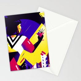 Victory to the moon Stationery Cards