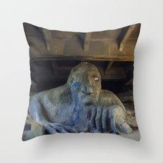 Troll under Bridge Throw Pillow