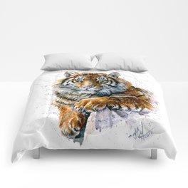 Tiger watercolor Comforters