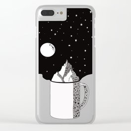 World in your cup Clear iPhone Case