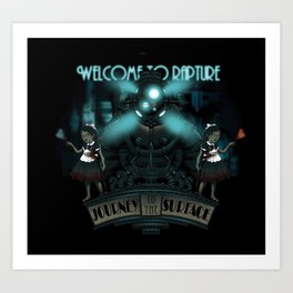 Welcome To Rapture Art Print