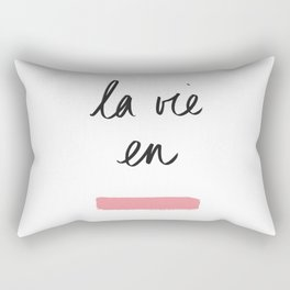 La Vie en Rose x Telma W. Rectangular Pillow