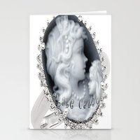agate Stationery Cards featuring agate,agate cameo,gemstone by ira gora