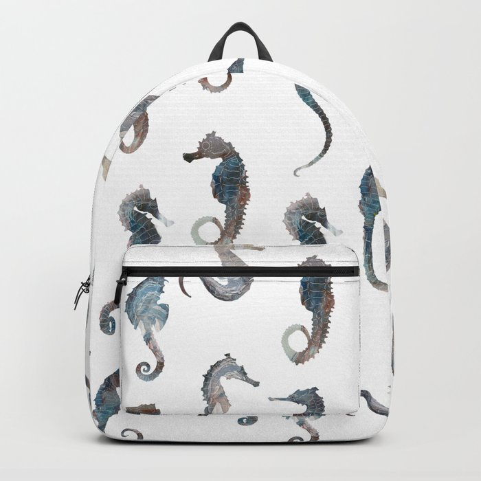 Seahorses Pattern Backpack
