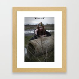 Alone in the Wasteland Pin-up 3 Framed Art Print