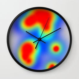 Heat Map Wall Clock