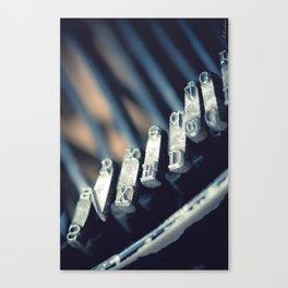 Vintage typewriter closeup detail - Macro Photography #Society6 Canvas Print