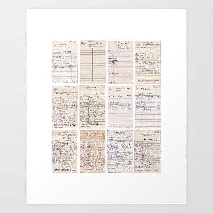 Old Friends Library Circulation Card Print Art Print