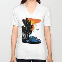 safari V-neck T-shirts featuring Safari  by Cindys