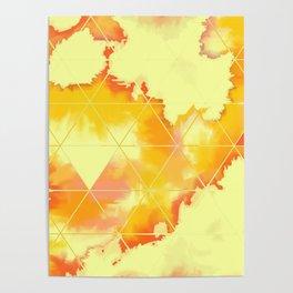 Burned Geometrics Poster
