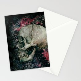the four eyes skull Stationery Cards