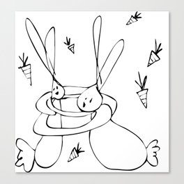 Snuggle Bunnies <3 Canvas Print