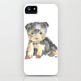 Yorkie Pup iPhone Case