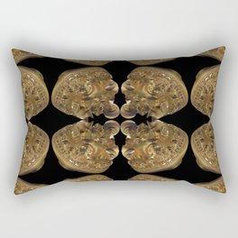 Fractal Art - Golden Pyramid Rectangular Pillow