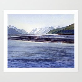 Early Morning Turnagain Arm Alaska Art Print