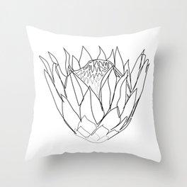 """Botanical Collection"" - Protea Flower Throw Pillow"