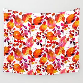 Vintage watercolor autumn leaves Wall Tapestry